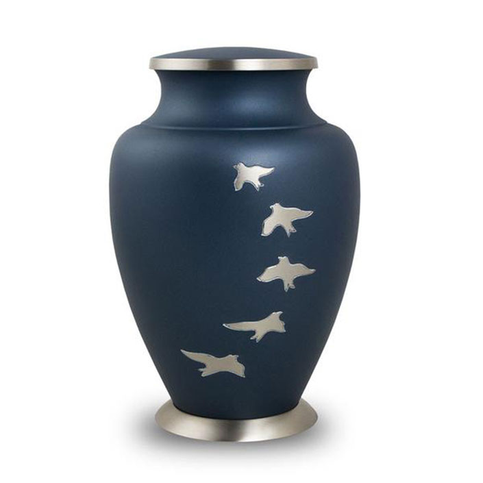 Navy Blue Going Home Urn
